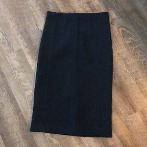 Ann Taylor Midi Length Navy Pencil Skirt 4